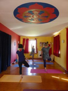 Tree pose in Italian Retreat